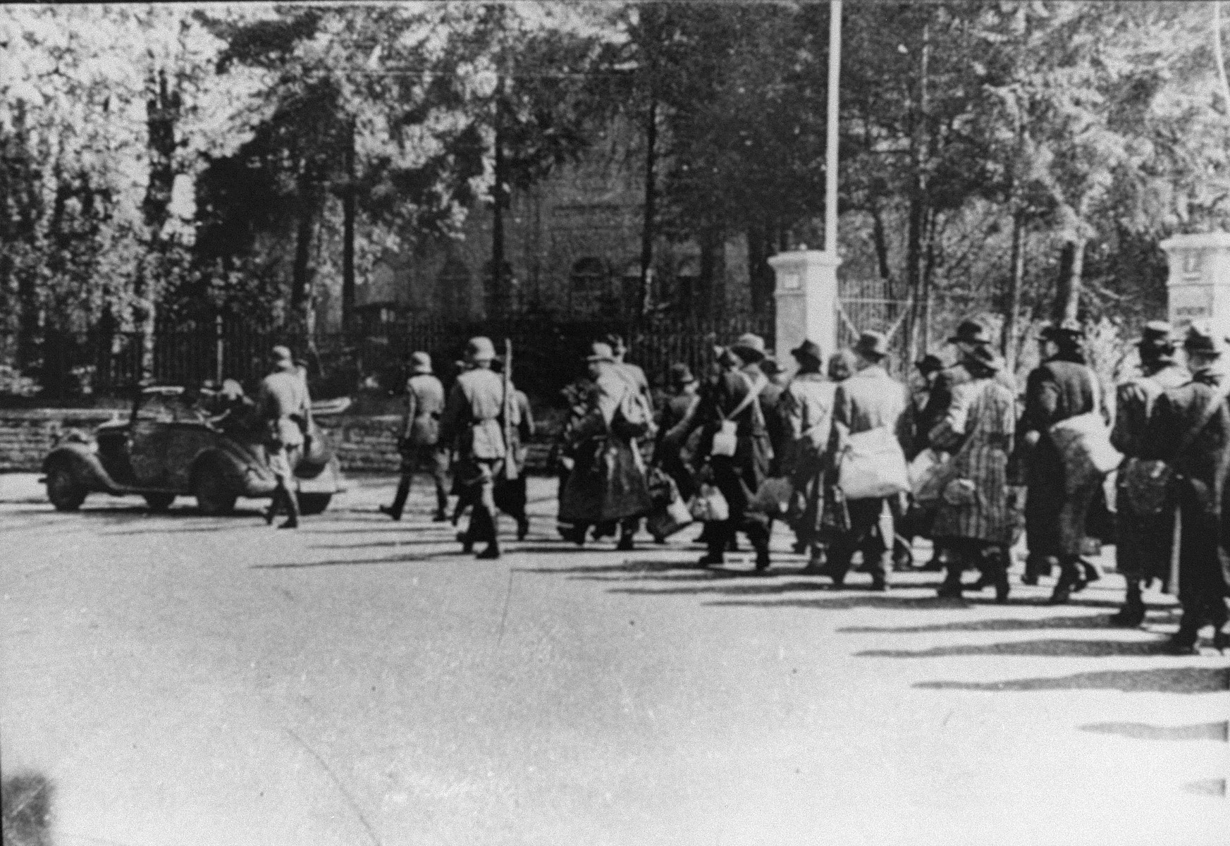 Deportation of Dutch Jews to Westerbork concentration camp.