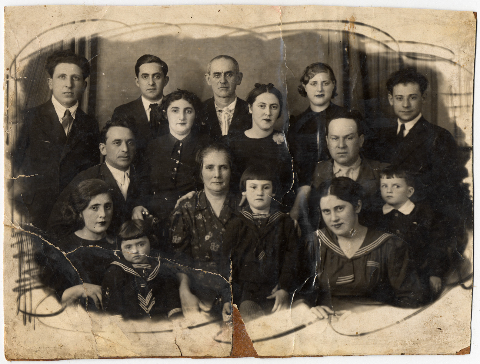 Studio portrait of the extended Ziegelman family.
