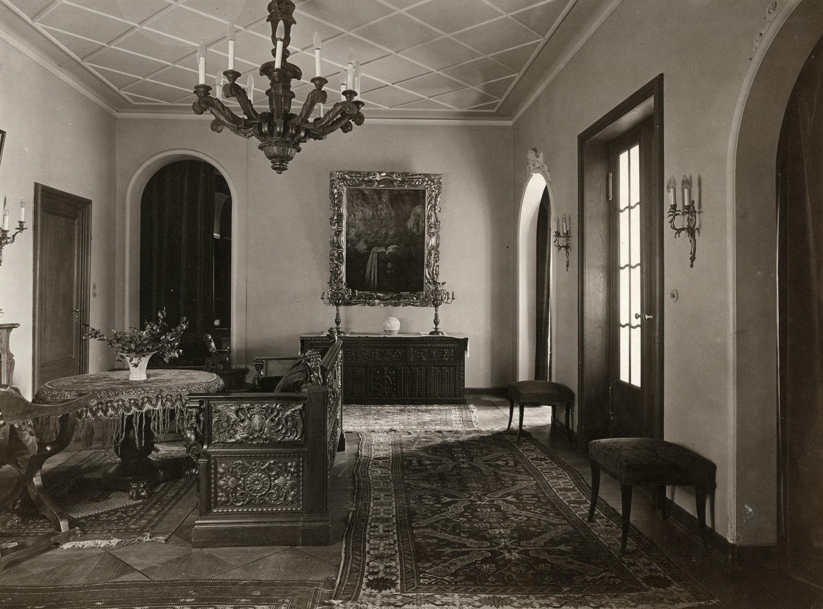 Interior view of the Lewinnek's home in Berlin prior to the Nazi take-over.