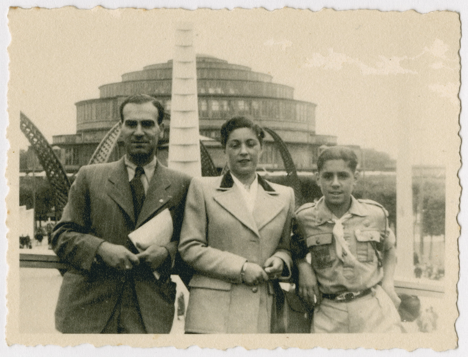 Marian Kwasniewski visits Wroclaw with his parents Josef and Helan.