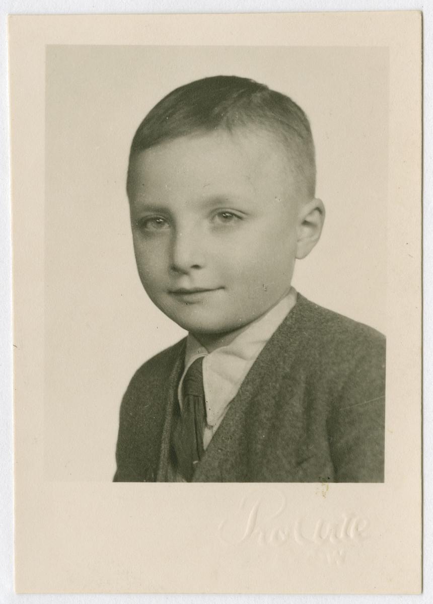 Postwar studio portrait of Pawel (Pinio) Chiger.