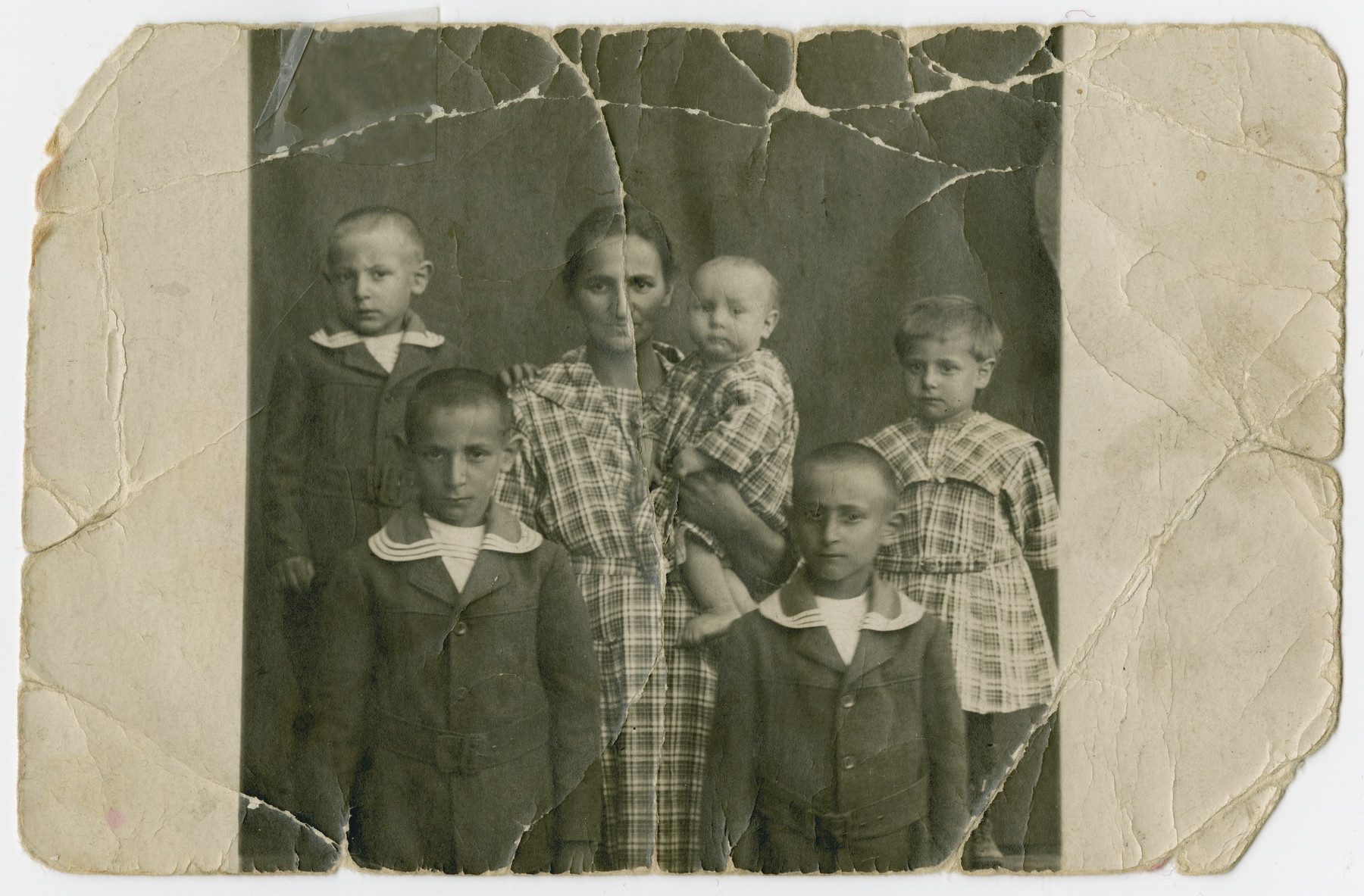 Portrait of the donor's mother with her four older brothers and sister.