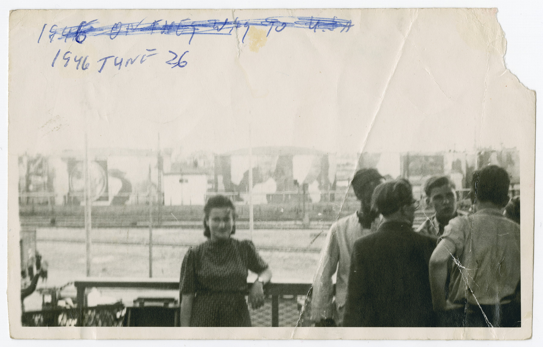 Miriam Pomerantz arrives in the United States on board the Marine Perch.