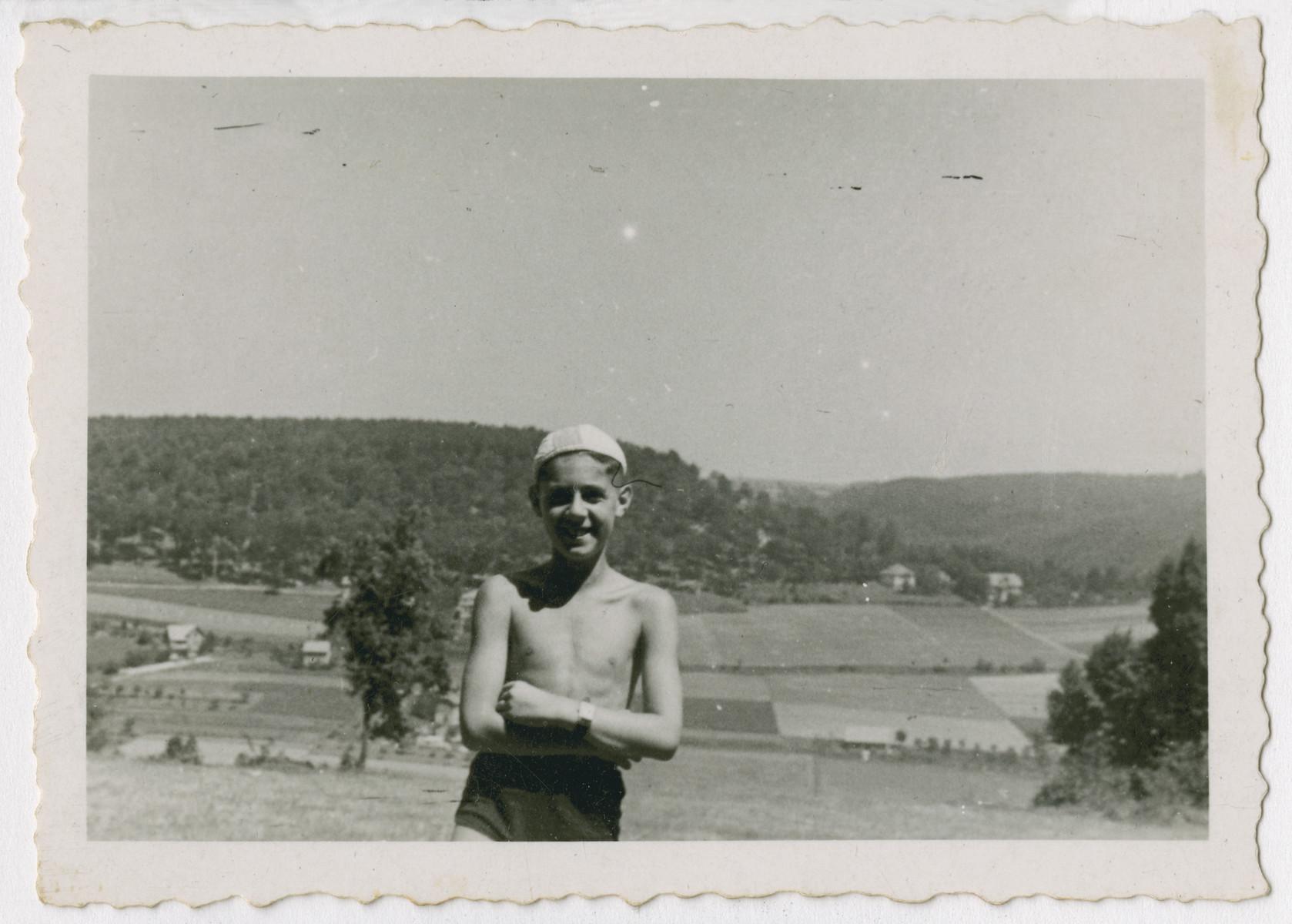 Marian Kwasniewski enjoys the countryside after the war.