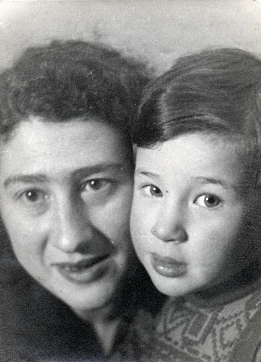 Portrait of Herman with mother Rosa approximately a year before family went into hiding.