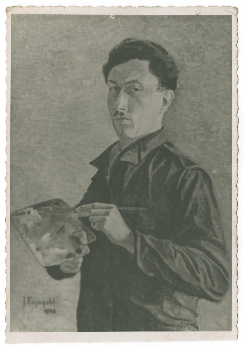 Self-portrait of artist Julian Feingold.