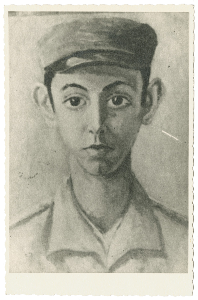 Portrait of Julian Feingold's younger brother.