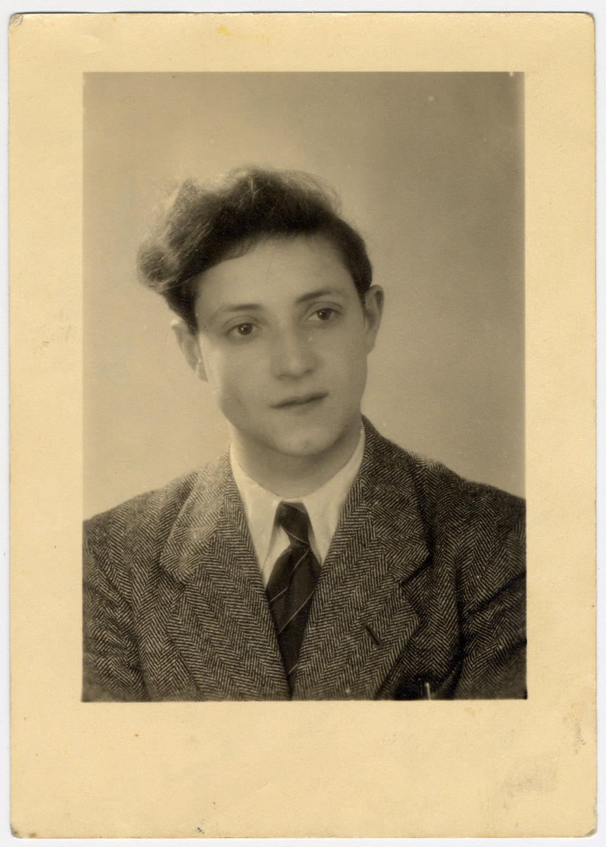 Portrait of one of the Buchenwald Boys given to Hirsch Kolber in Geneva.