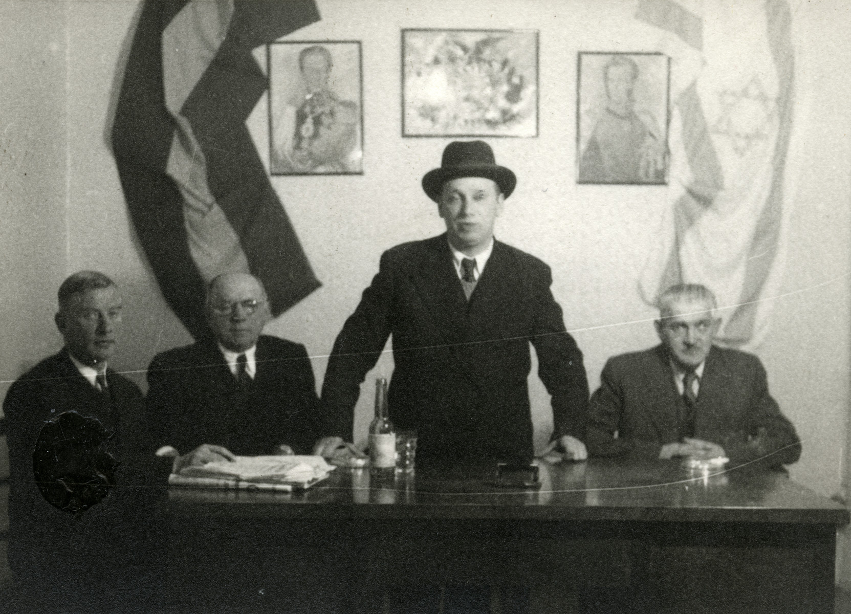 Rabbi Israel Wagner (the donor's husband) officiates in La Paz, Bolivia.