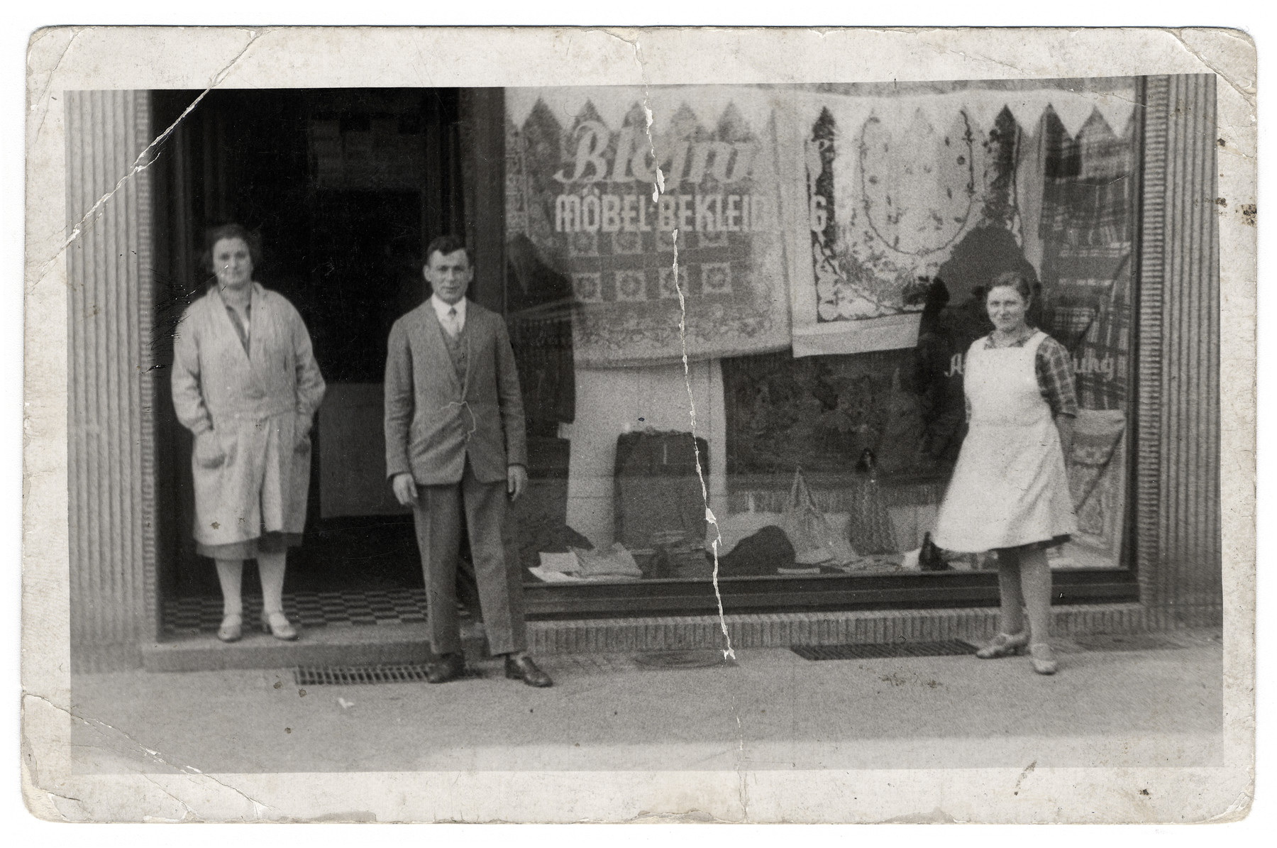 Nesie Bleiweis stands outside her store in Gladbeck, Germany.