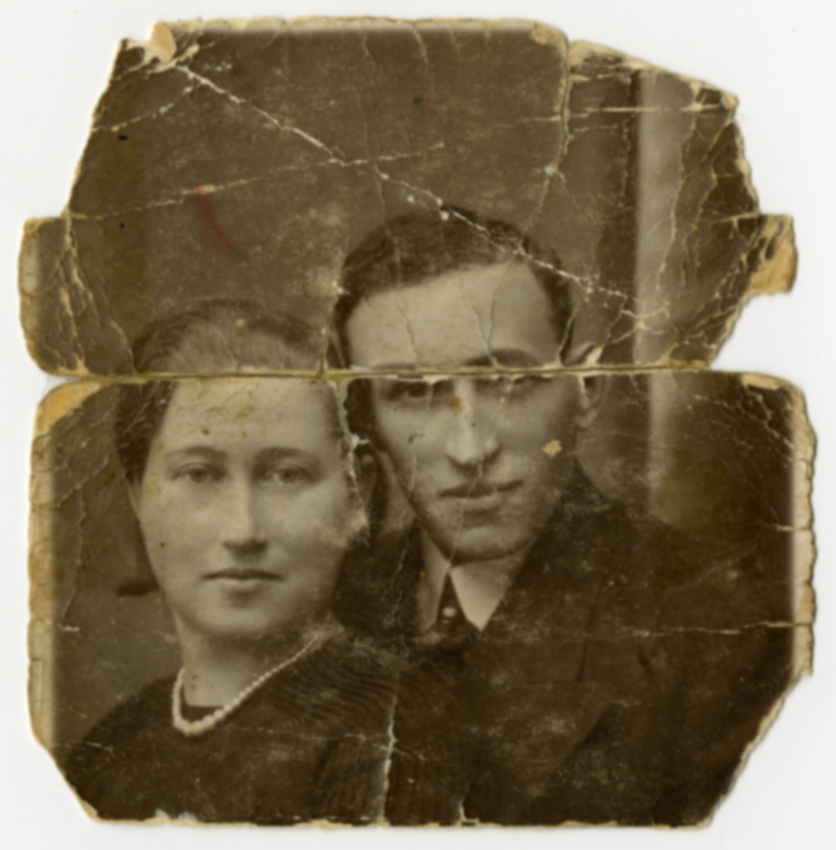 Studio portrait of Wolf and Sura Kupersztajn, Clara's brother and sister-in-law, who lived in Warsaw and perished there during the Holocaust.