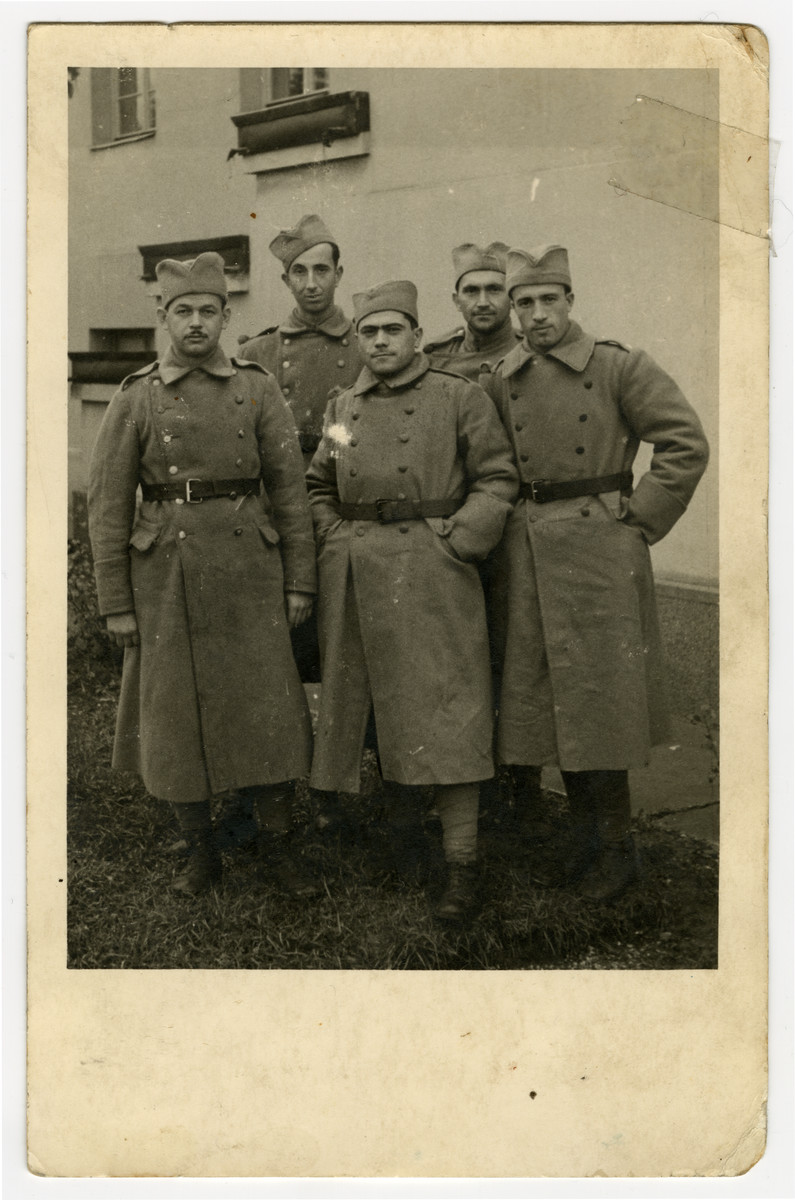 David Levi (standing in the middle) poses with other soldiers during his military service in Yugoslav Army.