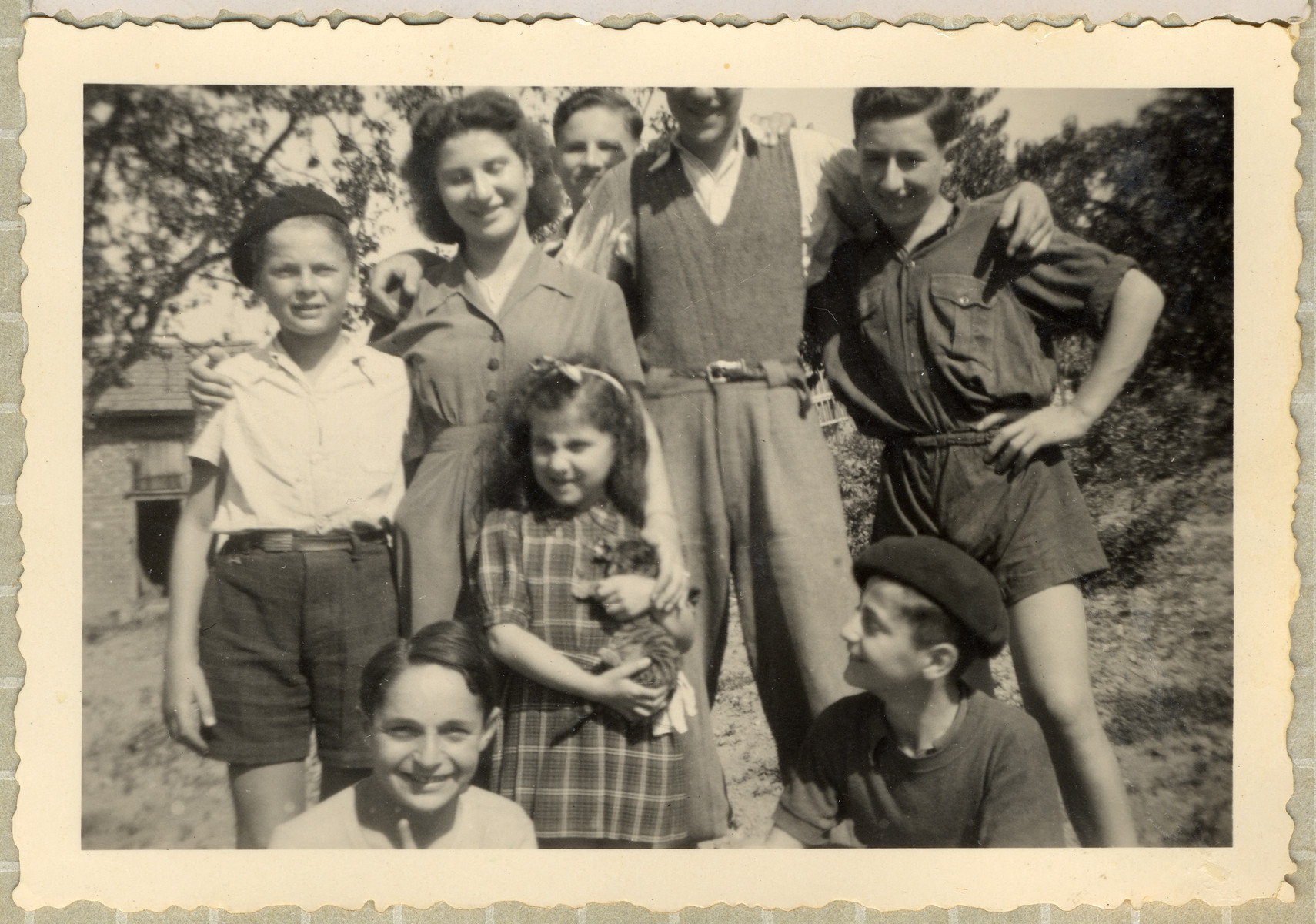 Group portrait of Jewish children in the OSE home, Poulouzat.