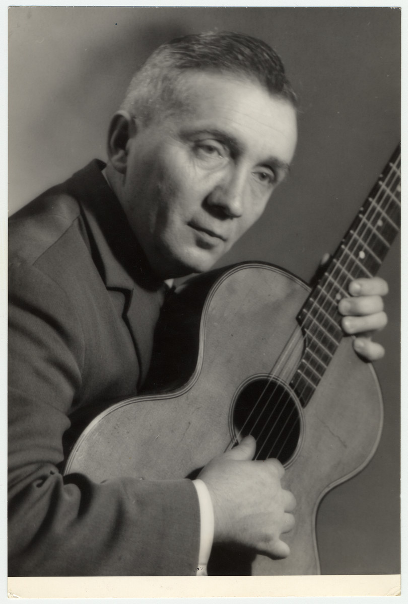 Portrait of Polish musician, Aleksander Kulisiewicz.