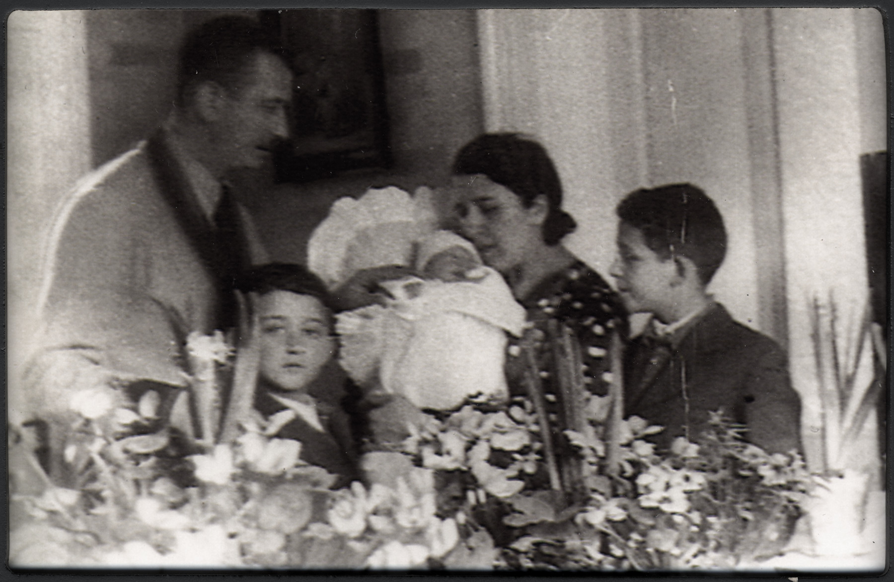 The Joszef family celebrates the birth of a baby girl.  Pictured from left to right are Marcell, Gheorghe, Agneta Flora, Irene and Andrei Joszef.
