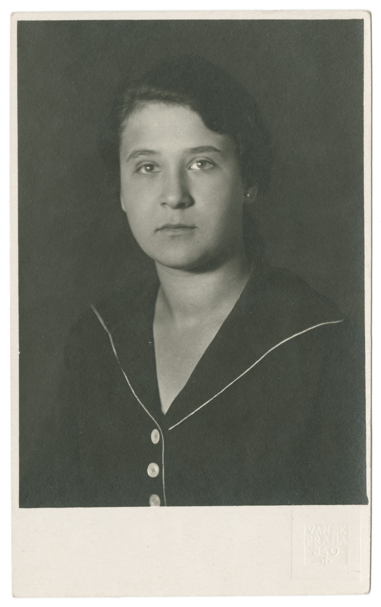 High school graduation portrait of Vilma Eisenstein.