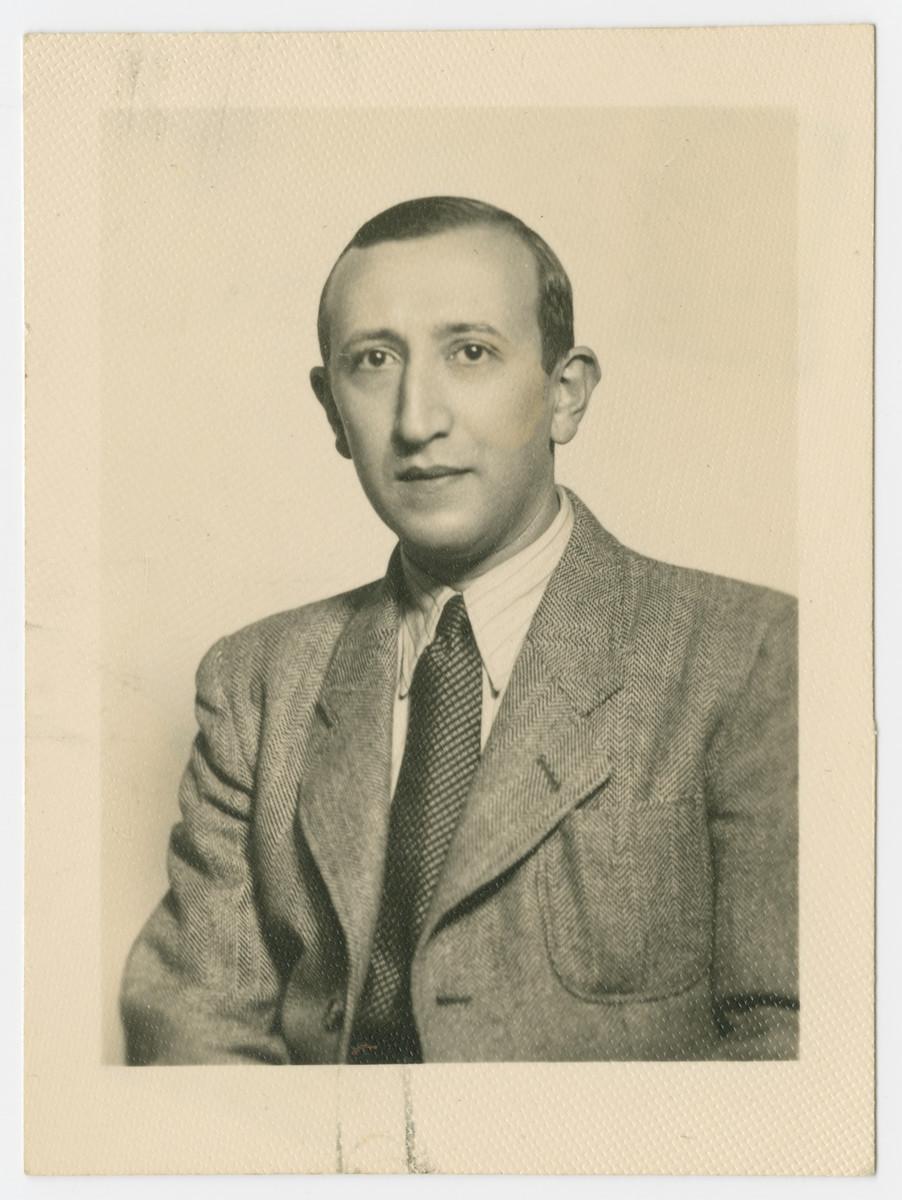 Prewar studio portrait of Alexander Ogurek.