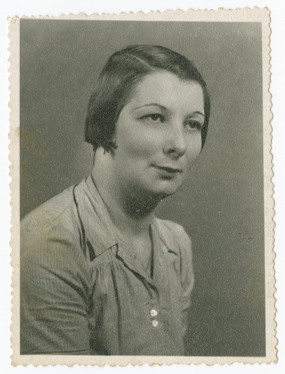 Studio portrait of Karola Ogurek [probably taken after she fled to Hungary].