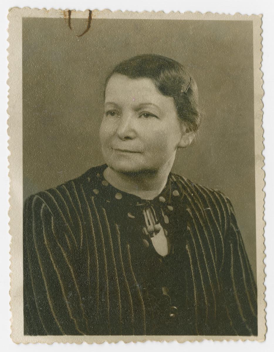 Studio portrait of Helena Fiszer, grandmother of the donor.