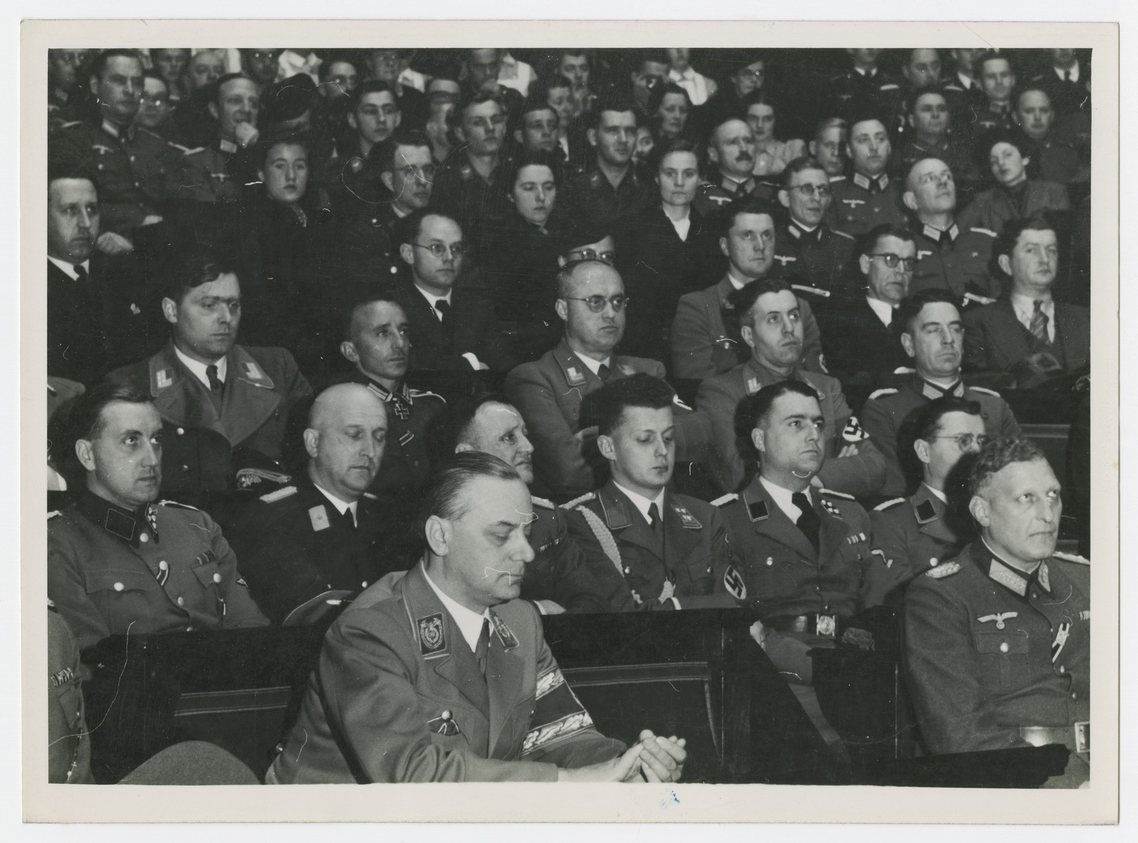 Alfred Rosenberg sits in the French National Assembly where he is giving a major address.