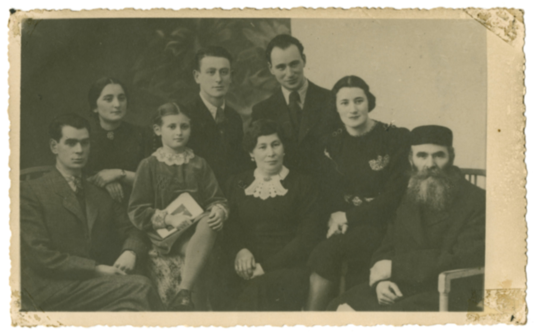 Prewar studio portrait of the Zimmerman family (the family of the donor's stepfather).