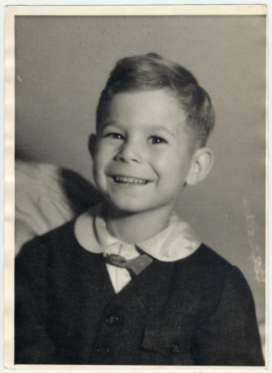 Studio portrait of Robert Wagemann, a disabled Jehovah's Witness child.