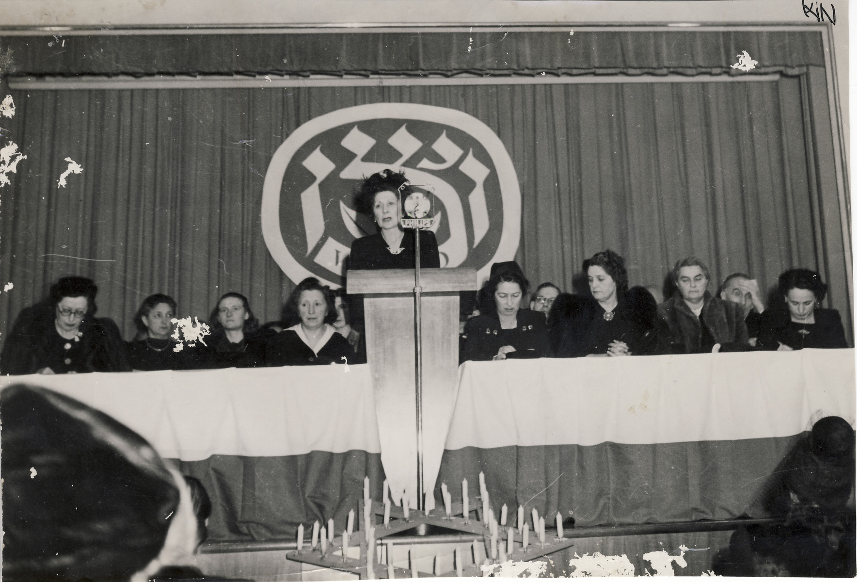 Zionist women gather in Basel Switzerland for the 11th international WIZO (Women's International Zionist Organization) conference, their first conference since the start of World War II.