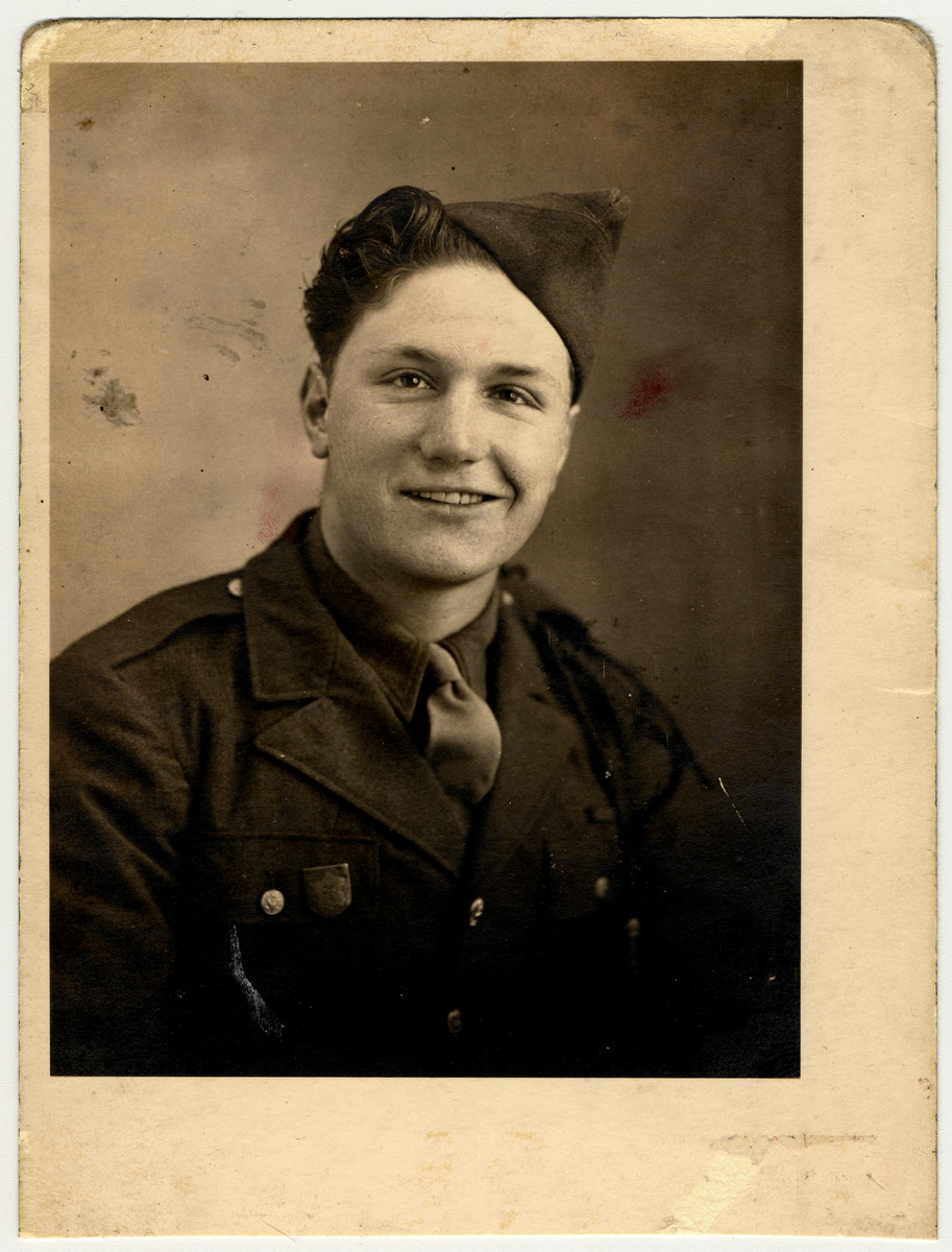 Harry's cousin, Albert, sits as a member of the Free French Army in 1945.