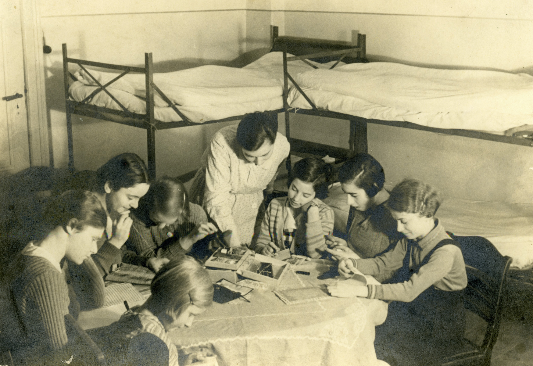 Children studying in the dorm rooms at the Beith Ahawah Children's Home.