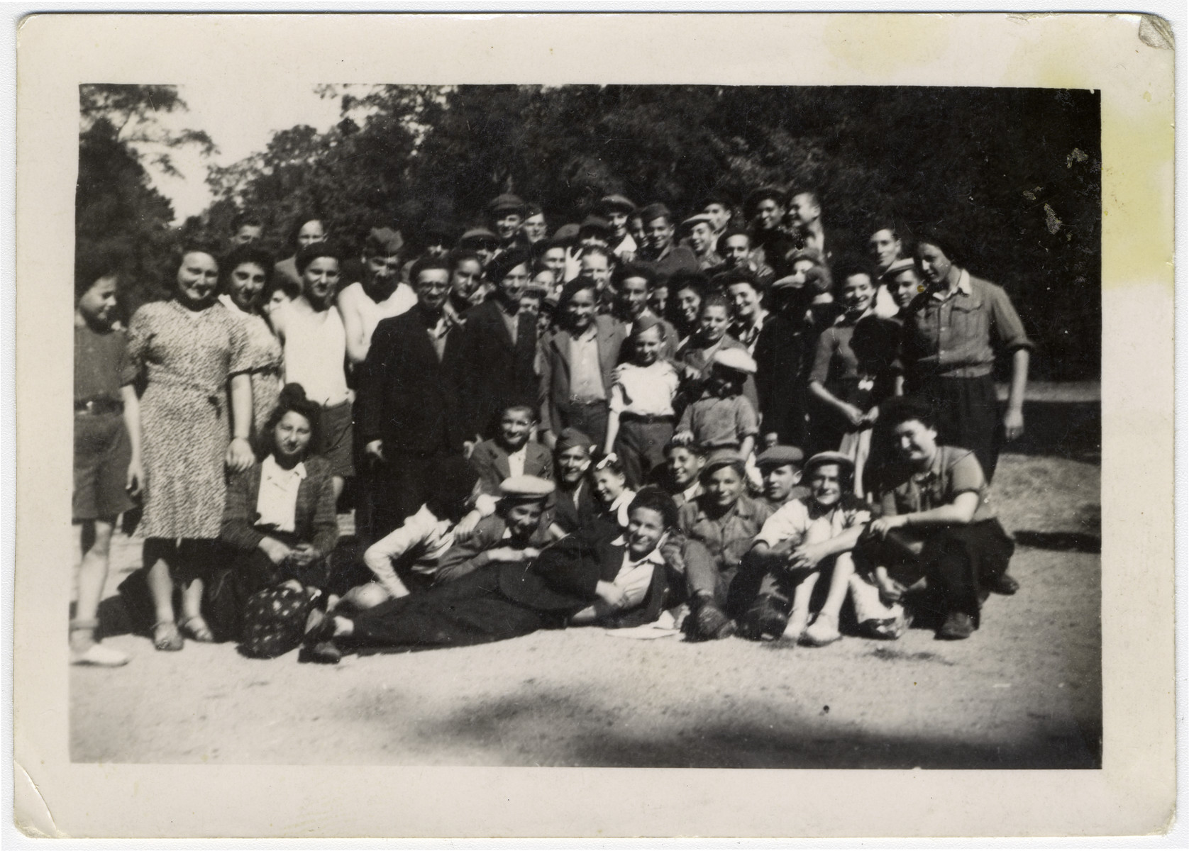 Group portrait of teenagers in a religious summer camp, Machane Yeshurun.
