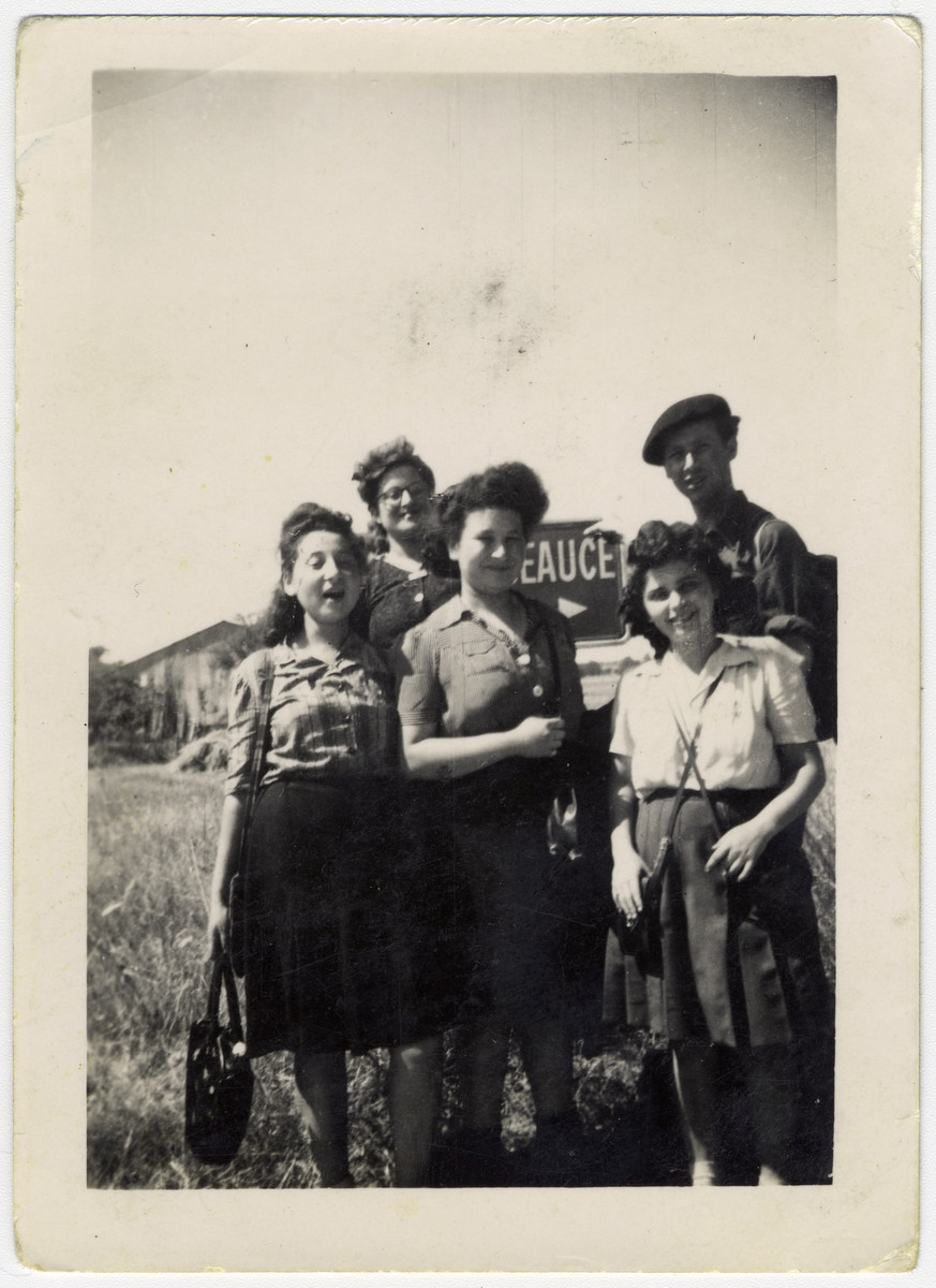 Portrait of five teenagers in a religious summer camp in France, Machane Yeshurun.