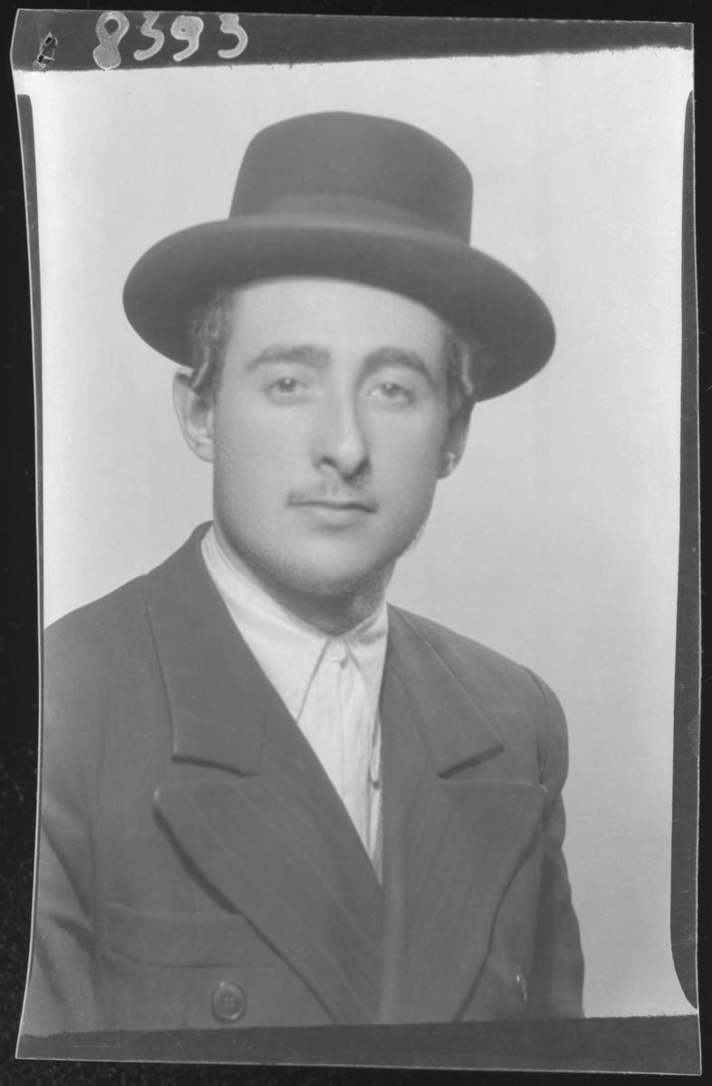 Studio portrait of Chaim Adler.
