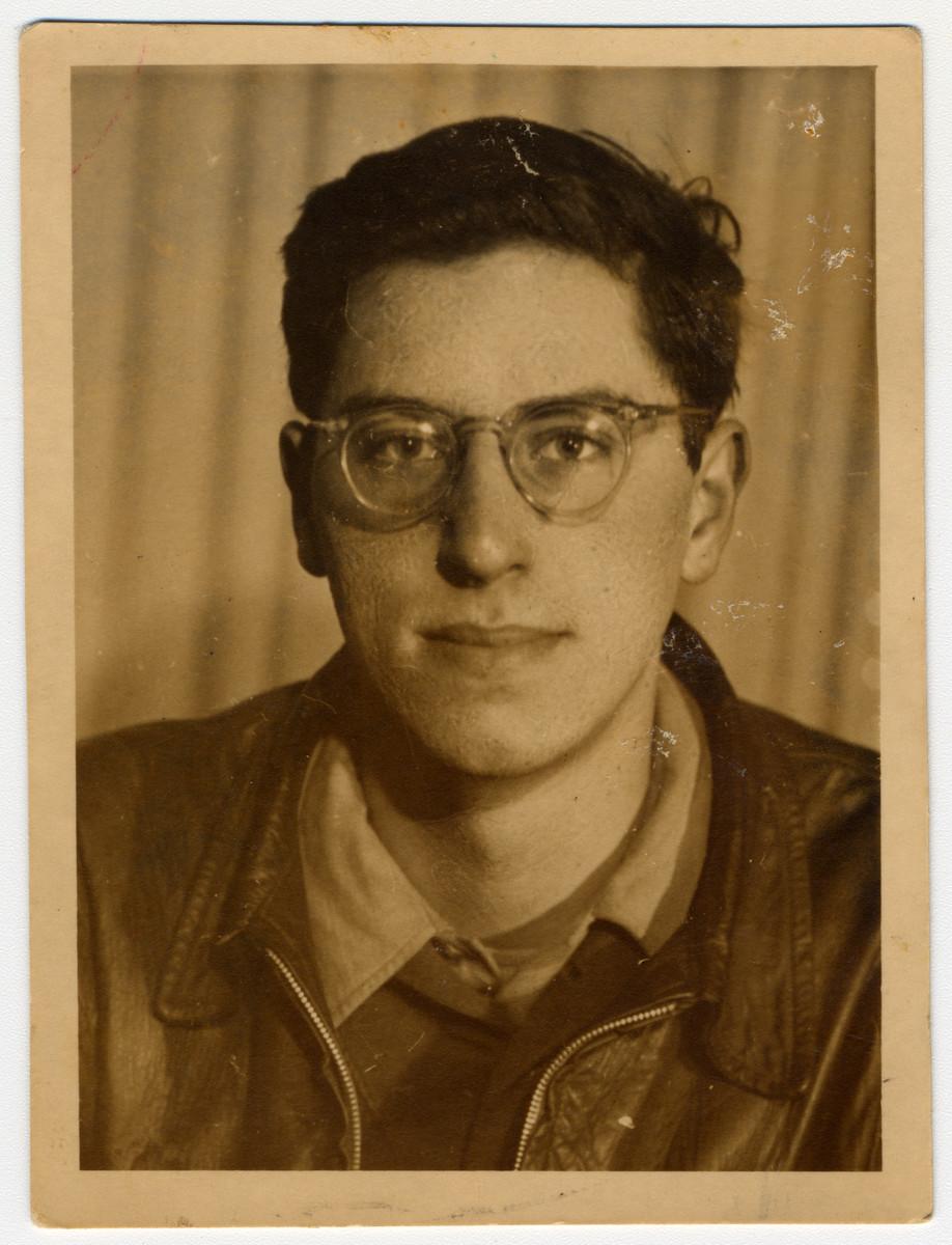 Portrait of Exodus crew member, Myron Goldstein.