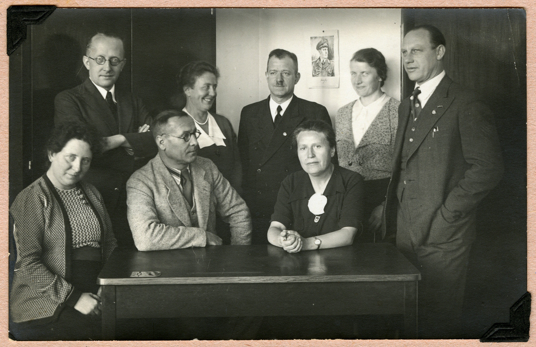 Group portrait of the teachers of a grammar school in Cologne.  Margot Alt attended this school.