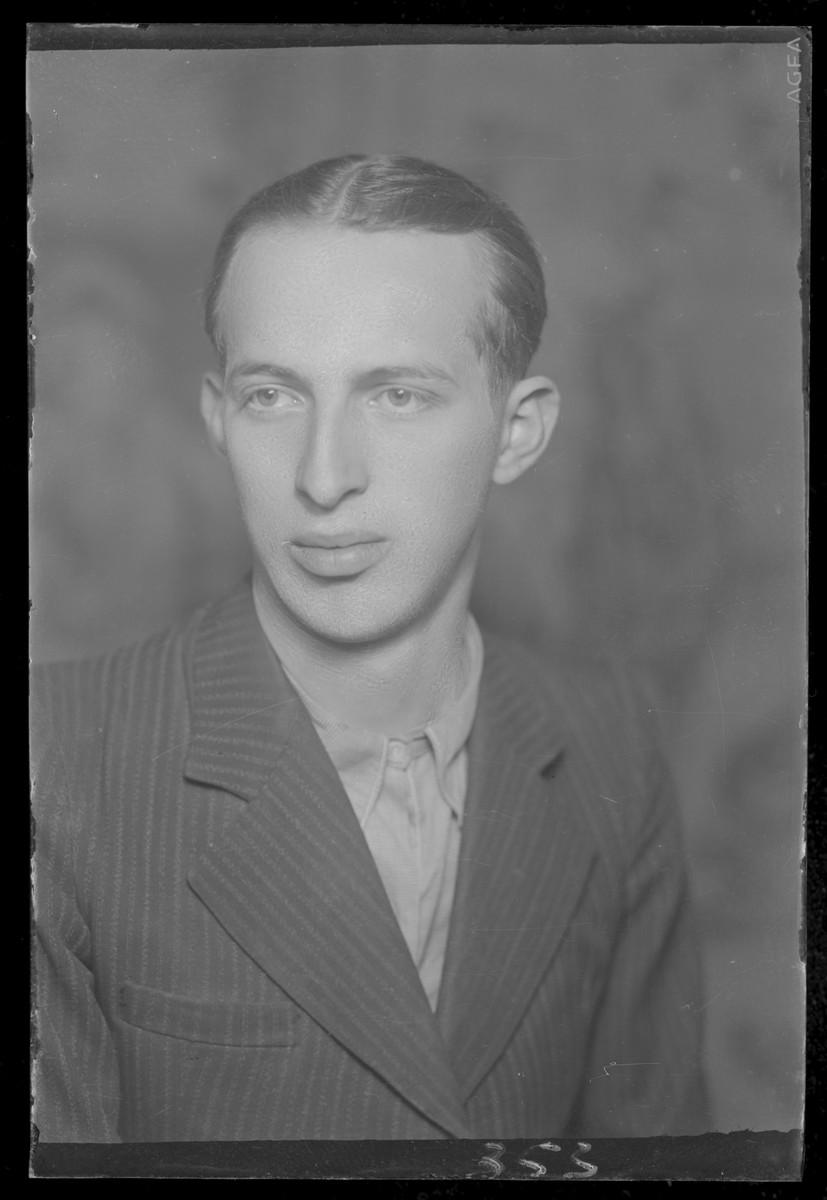 Studio portrait of Ignac Berkovits.