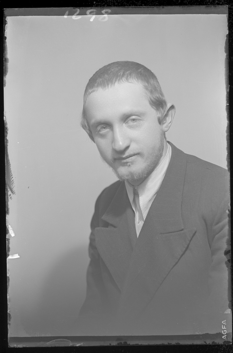 Studio portrait of Jeno Brach.