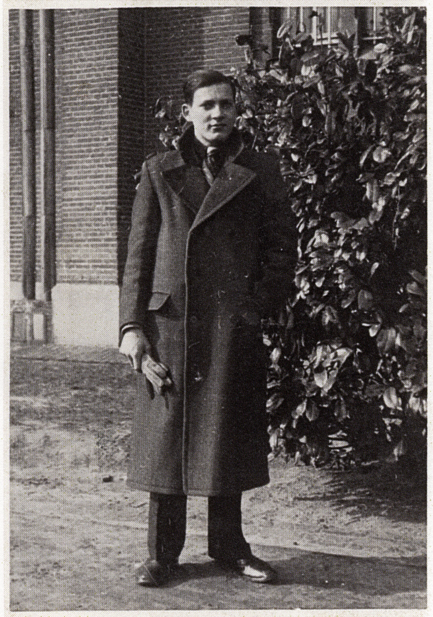 Portrait of an Austrian Jewish young adult taken shortly before he fled to Belgium.  Pictured is Alfred Juffy.