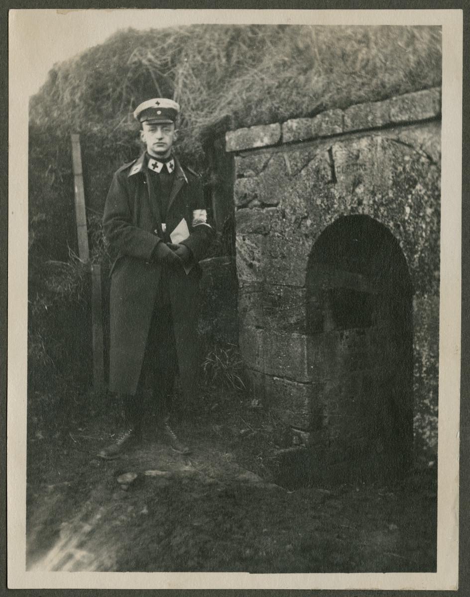 Walter Lande photographed while serving as a German medical officer in World War I.