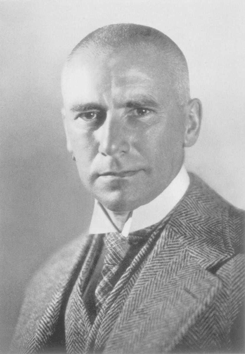 Portrait of Wilhelm Frick.  Wilhelm Frick (1877-1946), Minister of the Interior and Reichprotektor of Bohemia and Moravia, was an early NSDAP sympathizer.  In the early 1920s, Frick was Hitler's informant inside the Munich police and a political follower.  On January 23, 1930, Frick was appointed minister of the interior in Thuringia, and became the first NSDAP minister in a provincial government.  As minister of the interior, he purged the police forces of Weimar sympathizers and replaced them with NSDAP members.  Under Hitler, Frick drafted the Nuremberg Race Laws, which were used to exclude Jews from society.  Technically, he was Heinrich Himmler's superior, but he never imposed restrictions on the SS.  After Hitler consolidated power, Frick steadily lost his influence.  In 1943, he was appointed Reichsprotektor of Bohemia and Moravia, but he was given no real power.  His subordinate, Karl Hermann Frank, was recognized as the real authority.  After the war, Frick refused to testify at Nuremberg, but was nevertheless convicted of crimes against peace, war crimes, and crimes against humanity.  He was executed on October 16, 1946. Sources:  Encyclopedia of the Third Reich (Snyder) pp.  100-101; Who's Who in Nazi Germany (Wistrich) pp.  81-83; Encyclopedia of the Third Reich (Zentner) 1:299-300 (photo included).