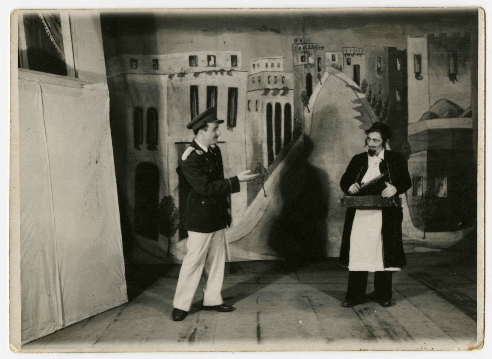 "Members of the Bamberg theatrical troupe perform the play ""Tel Aviv."""