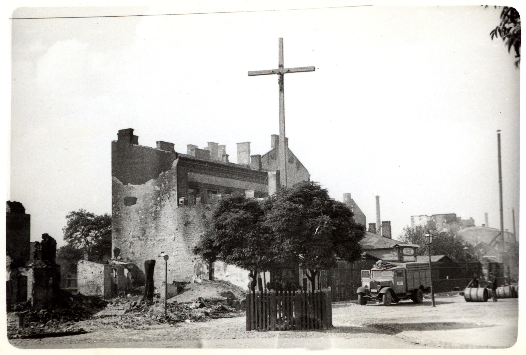 The ruins of a bombed-out church in besieged Warsaw.