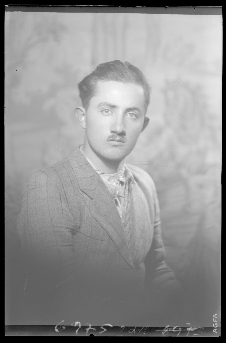 Studio portrait of Mihaly Fried.