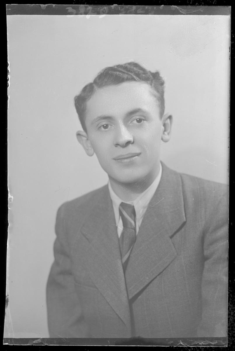 Studio portrait of Adolf Ferenc.