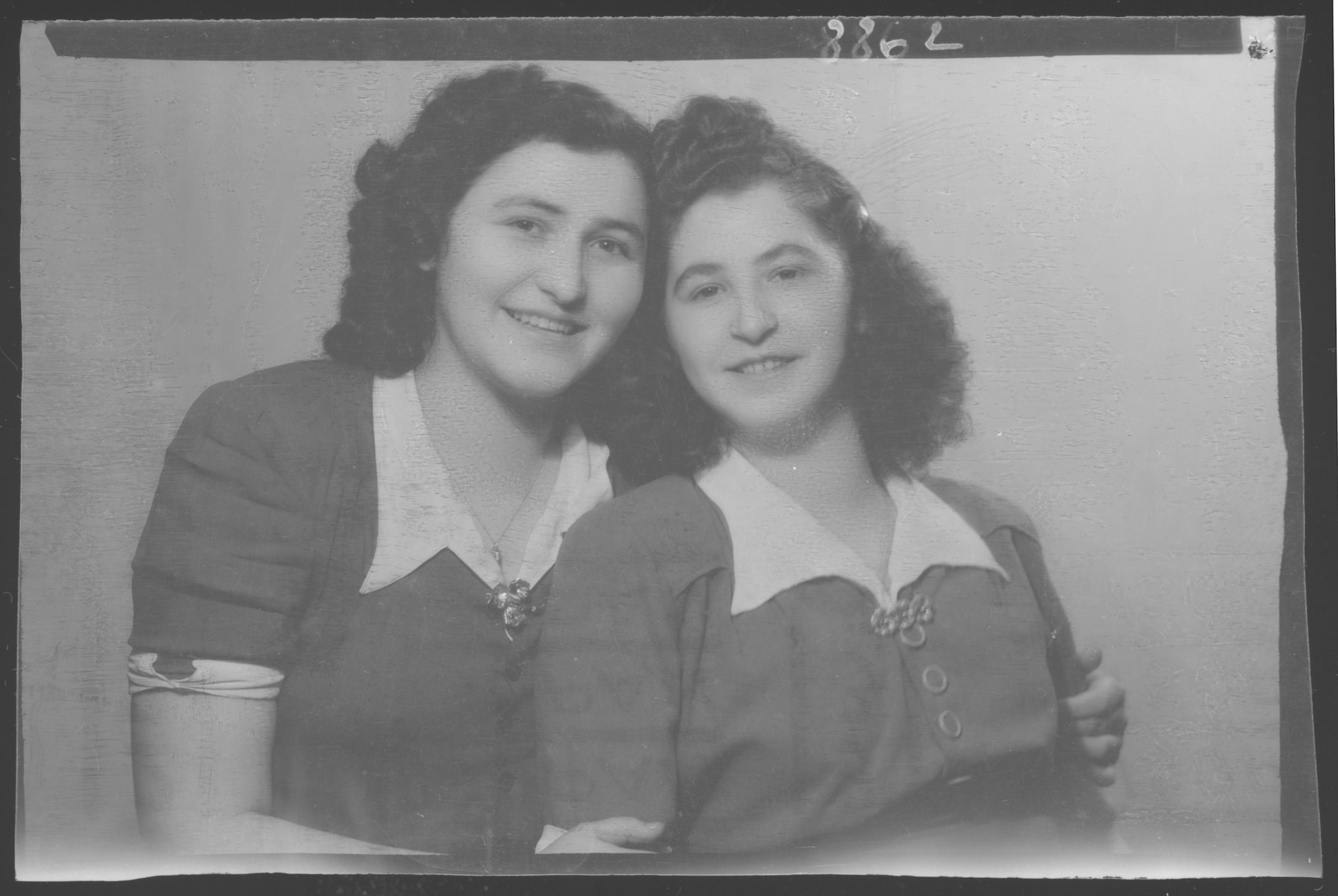Studio portrait of Idolya Friedberger [and probably her sister].