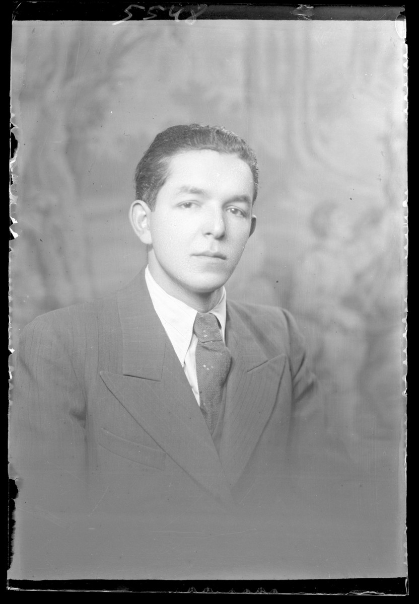 Studio portrait of Morton Freund.