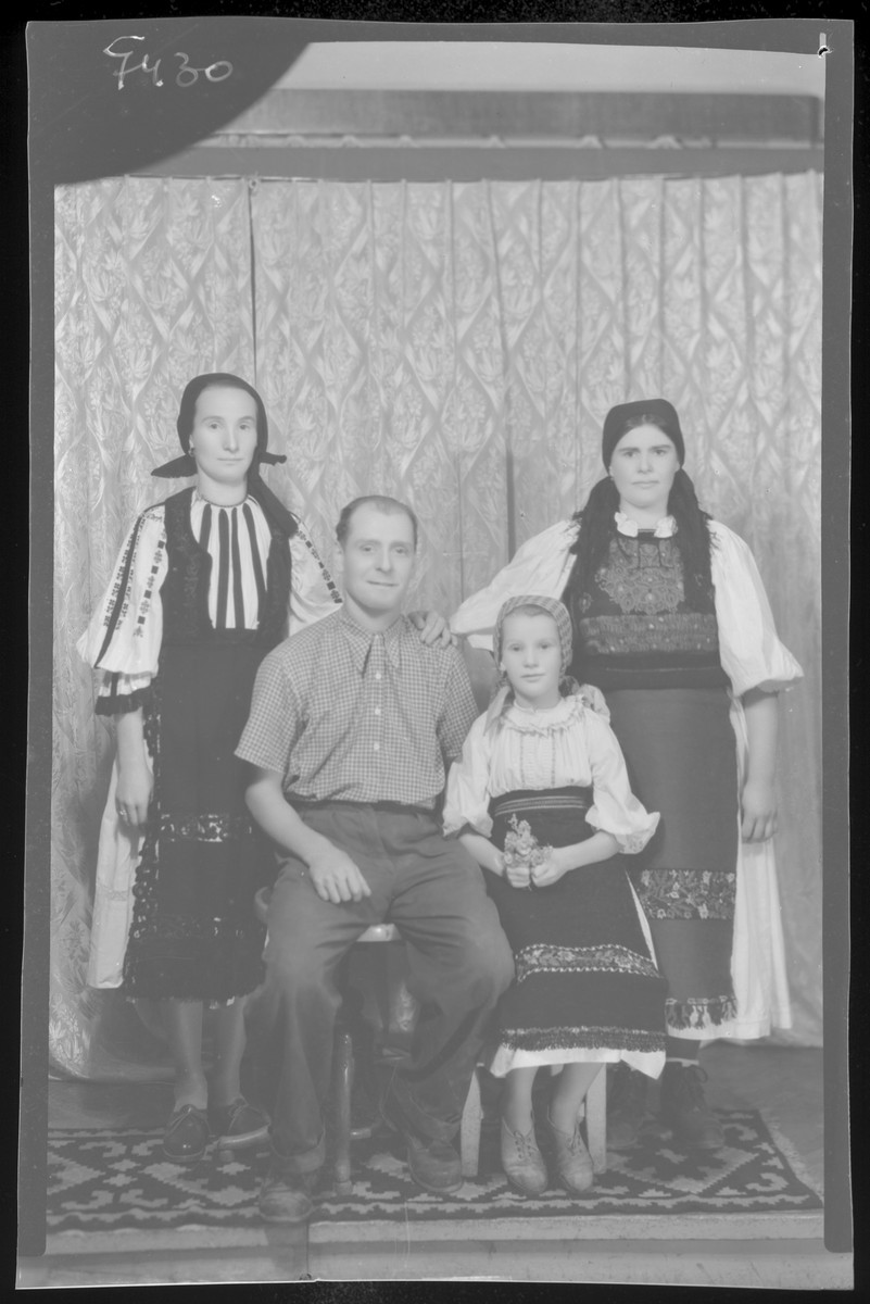 Studio portrait of an unidentified family.