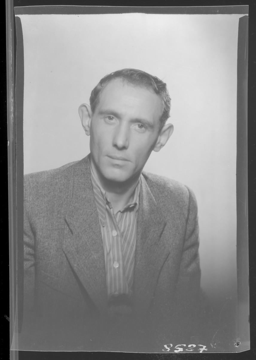 Studio portrait of Izador Fesztinger.