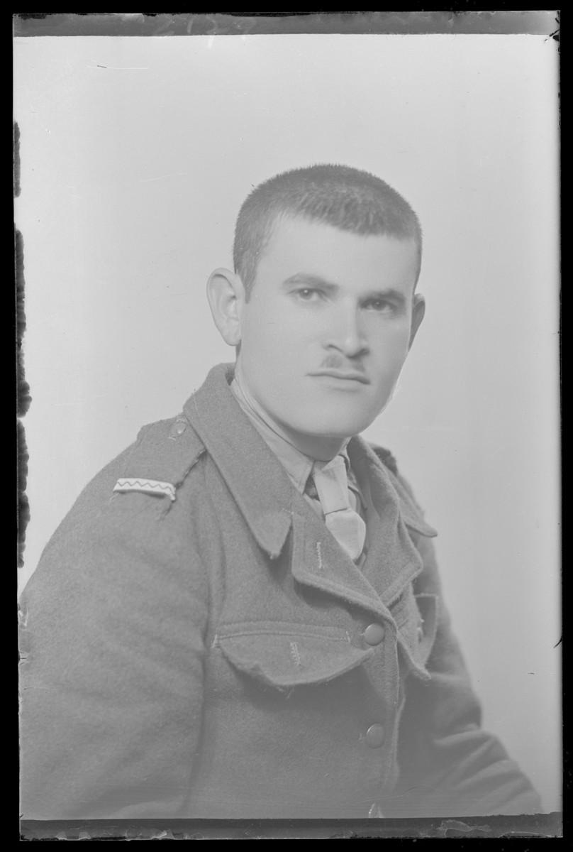 Studio portrait of Samuel Farkas.