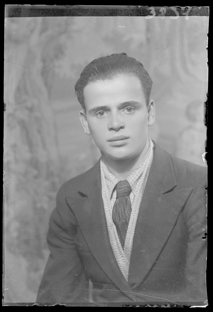 Studio portrait of Bela Feldman.