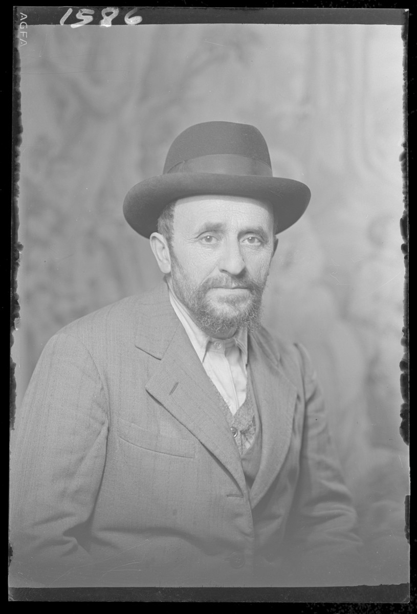 Studio portrait of Marton Ferenc.